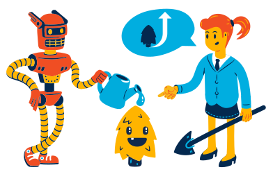 style Collaborative intelligence images in PNG and SVG | Icons8 Illustrations