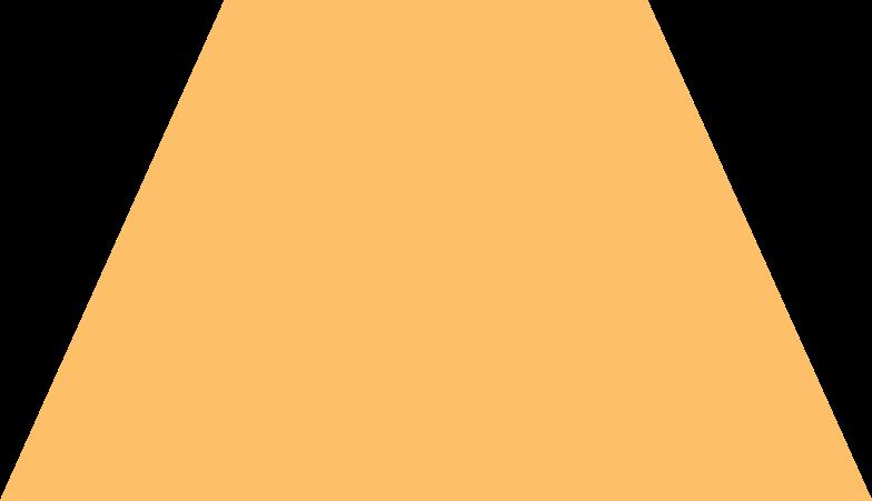 trapeze orange Clipart illustration in PNG, SVG