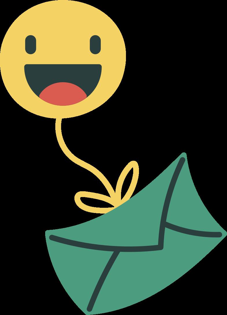 message sent  smiley face Clipart illustration in PNG, SVG