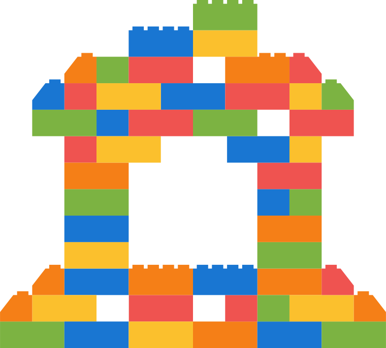 building blocks house Clipart illustration in PNG, SVG