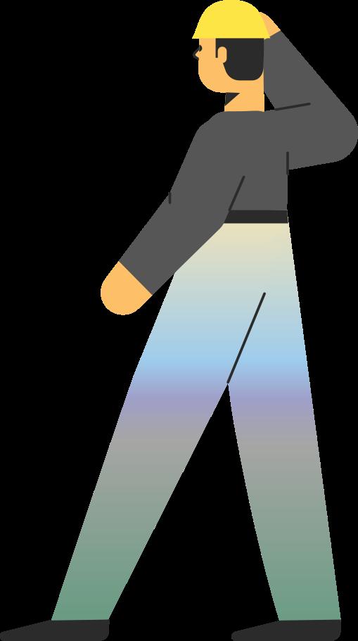 builder thinks Clipart illustration in PNG, SVG