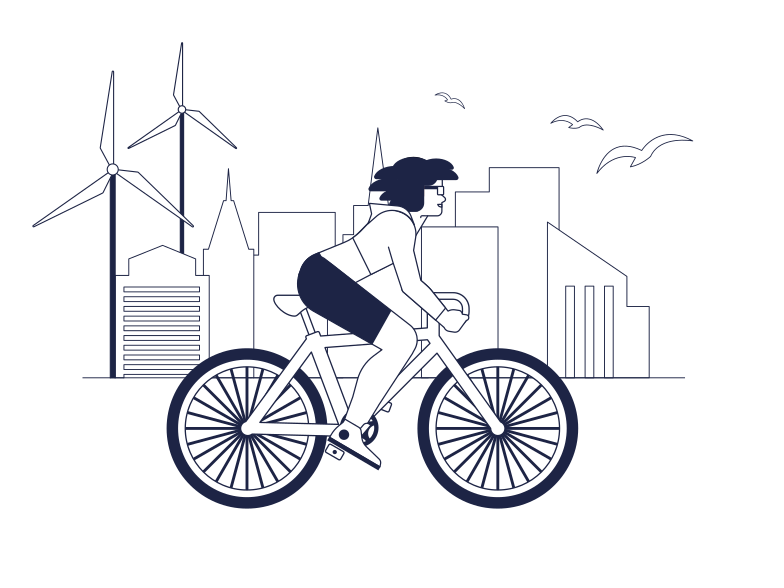 Ecological Life In The City Clipart illustration in PNG, SVG