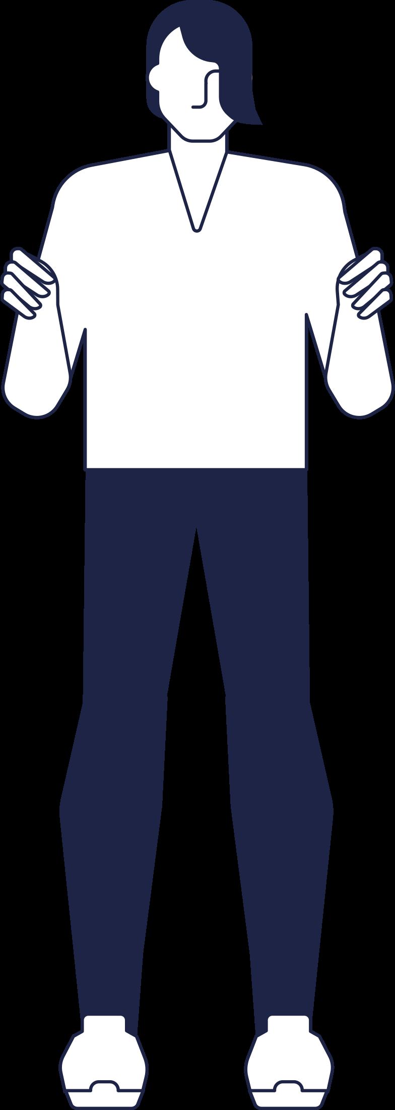 man holding something line Clipart illustration in PNG, SVG