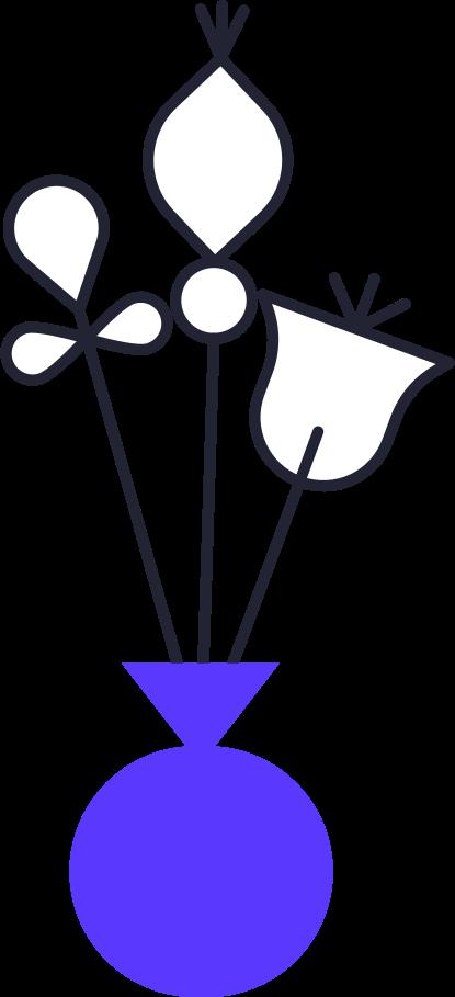 family  flowers in vase Clipart illustration in PNG, SVG