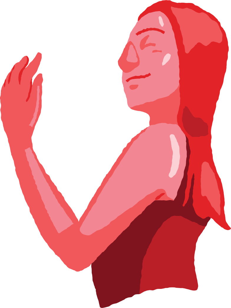 peaceful woman torso Clipart illustration in PNG, SVG