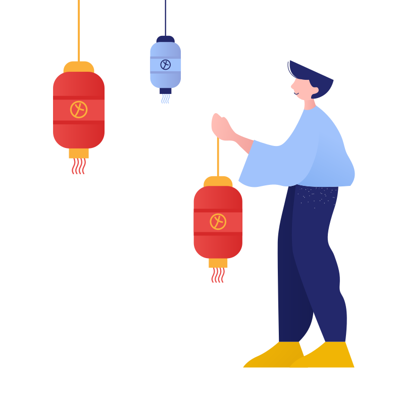 Chinese atmosphere Clipart illustration in PNG, SVG