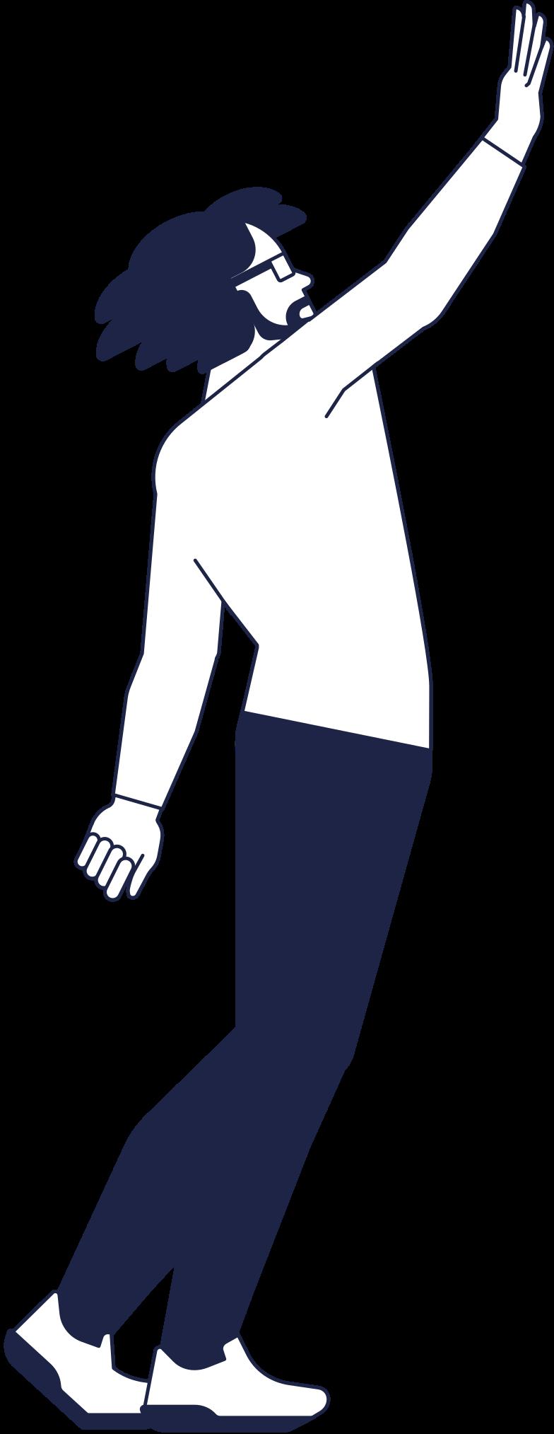 success  man line Clipart illustration in PNG, SVG