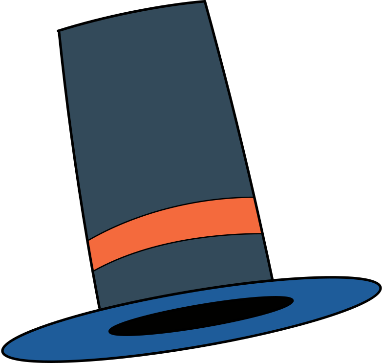 no connection  top hat Clipart illustration in PNG, SVG
