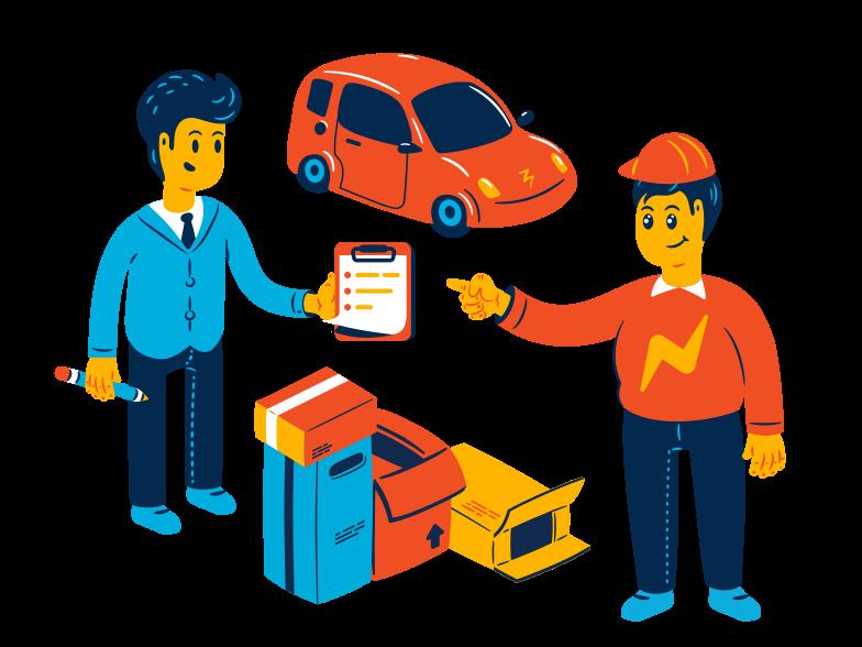 Transportation services Clipart illustration in PNG, SVG