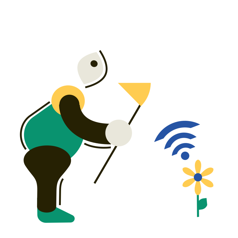 Eco Wi-Fi Clipart illustration in PNG, SVG