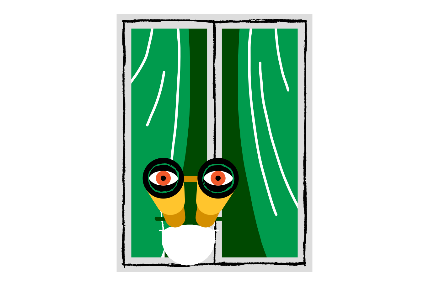 Gazing through the window Clipart illustration in PNG, SVG