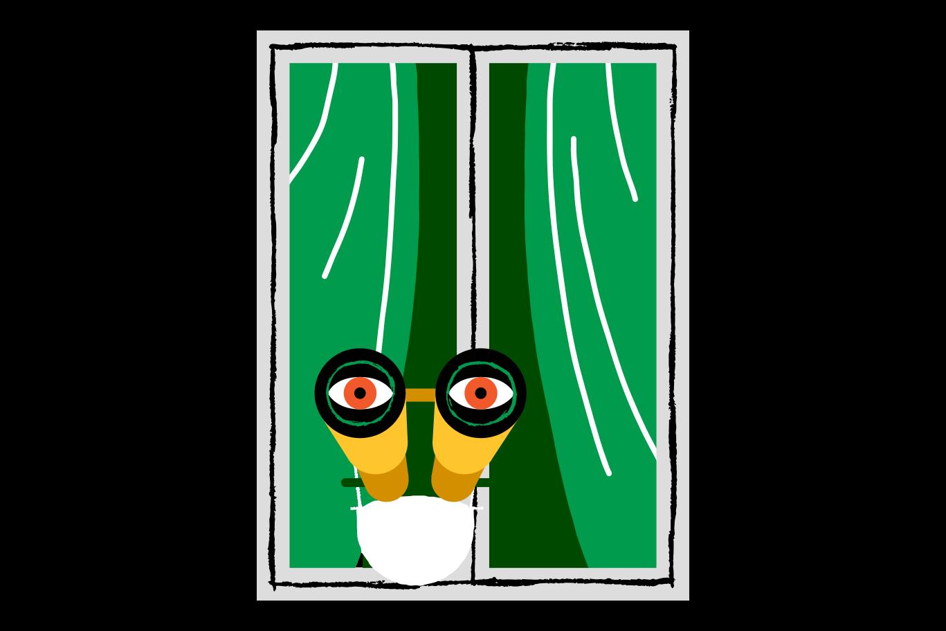 olhando pela janela Clipart illustration in PNG, SVG