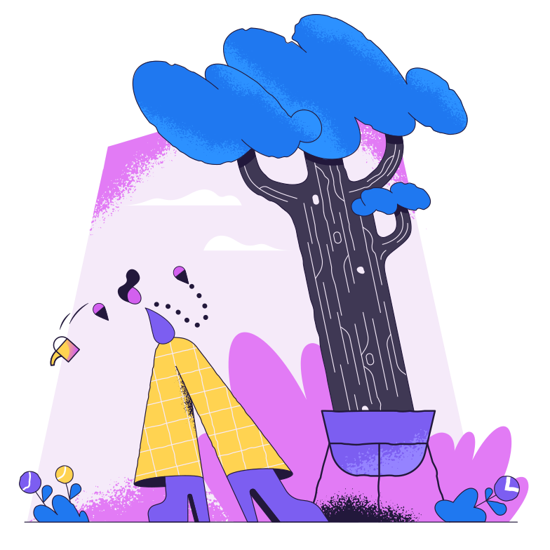 Unexpected growth Clipart illustration in PNG, SVG
