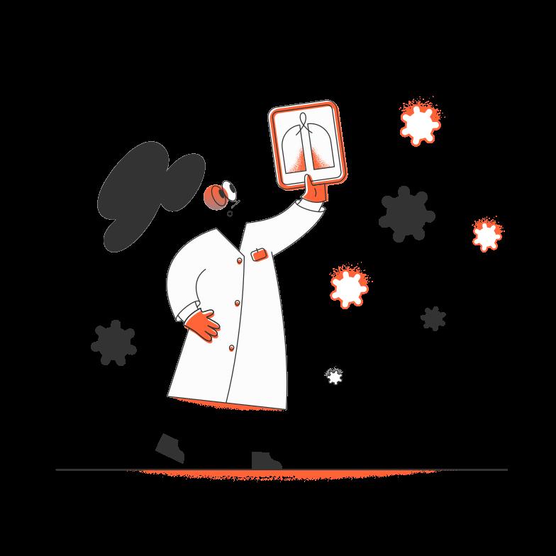 VIrus attack Clipart illustration in PNG, SVG
