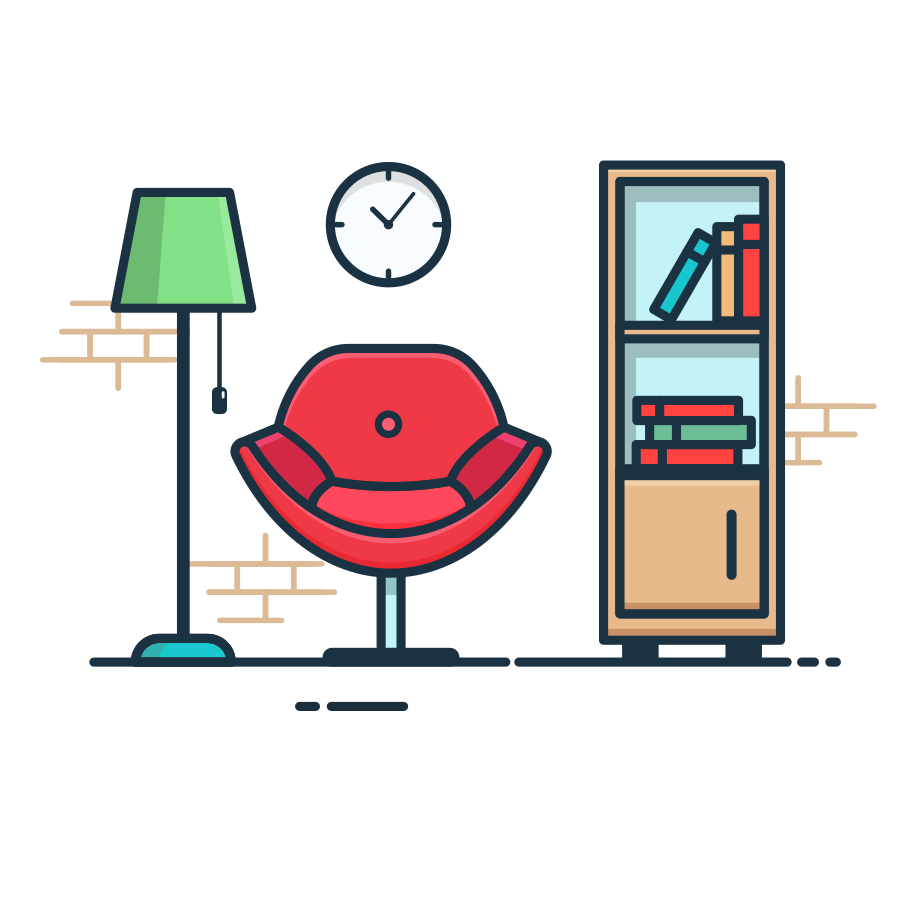Reading room Clipart illustration in PNG, SVG
