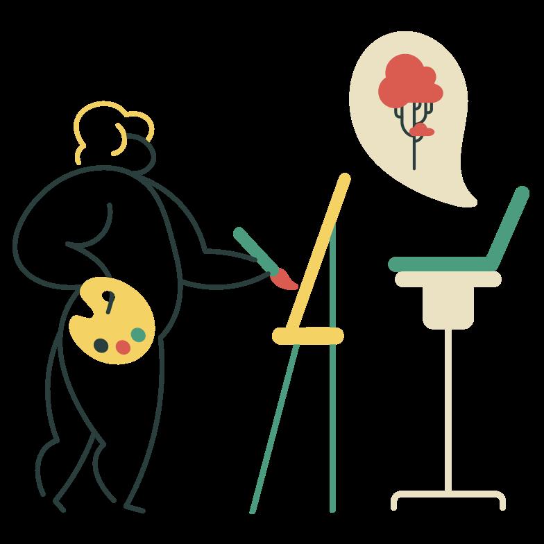 Curso de arte online Clipart illustration in PNG, SVG