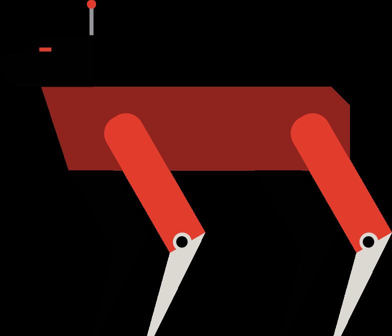 robot dog Clipart illustration in PNG, SVG