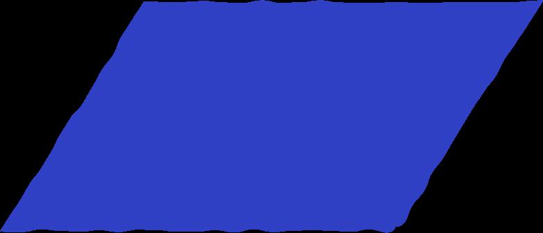 parallelogram blue Clipart illustration in PNG, SVG