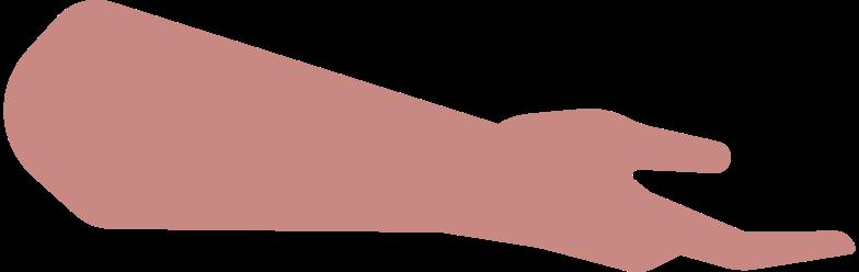 man holding somth hand Clipart illustration in PNG, SVG