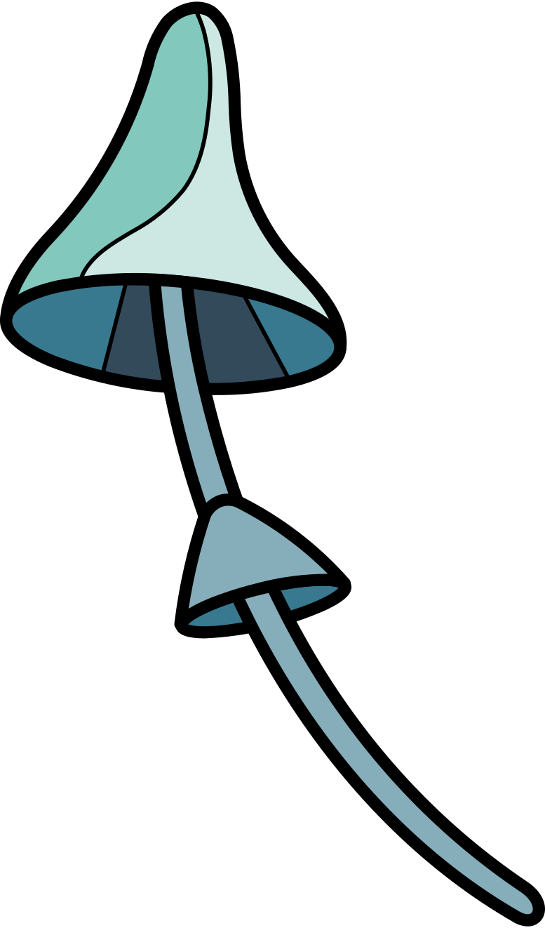 Style  bleu champignon Images vectorielles en PNG et SVG | Icons8 Illustrations