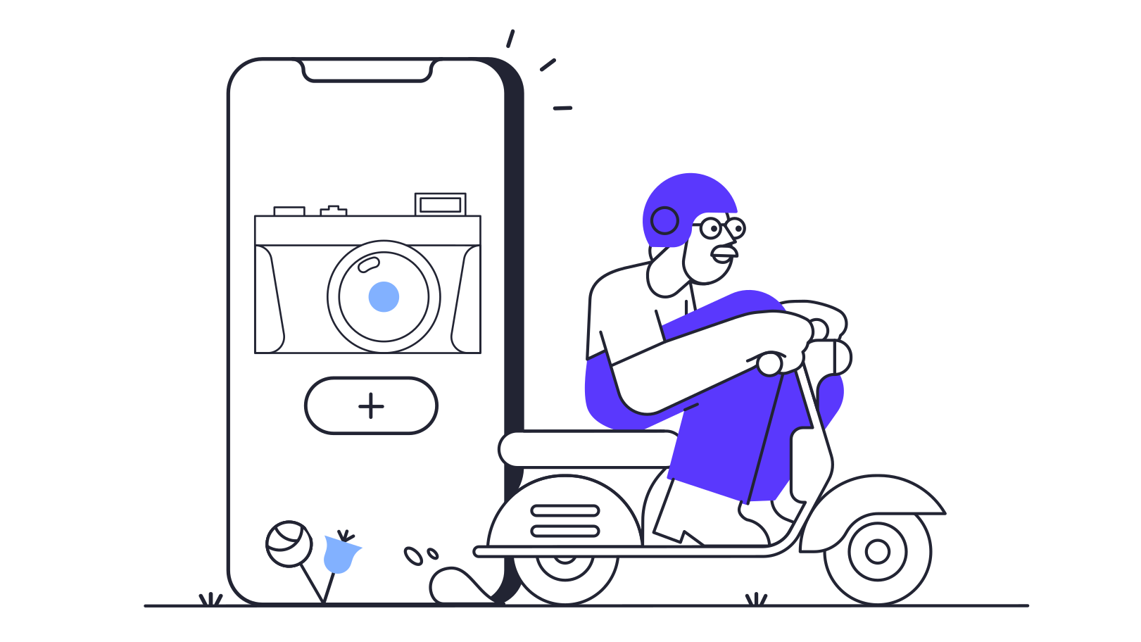 Technology app delivery  Clipart illustration in PNG, SVG