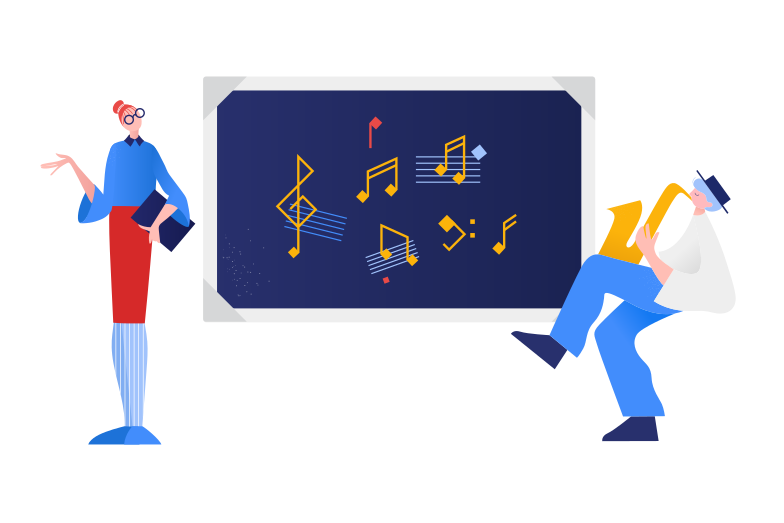 Music lesson Clipart illustration in PNG, SVG