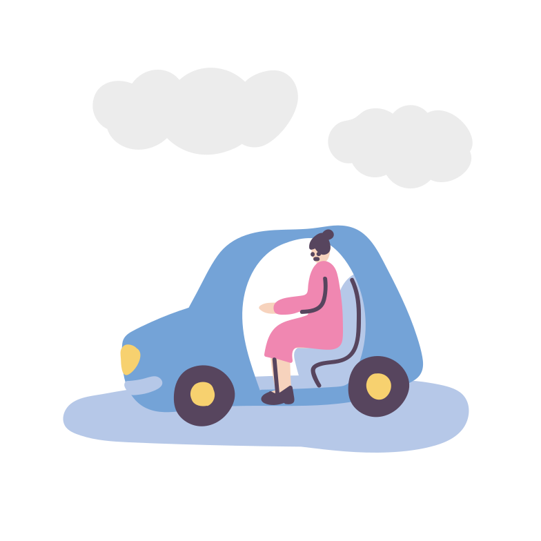 Riding a car Clipart illustration in PNG, SVG