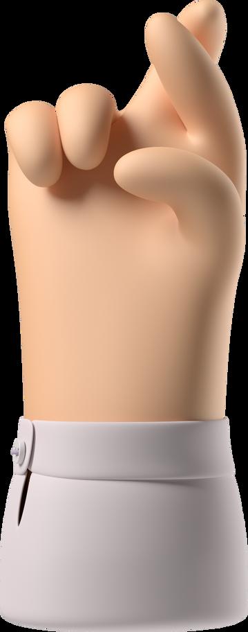 crossed fingers Clipart illustration in PNG, SVG