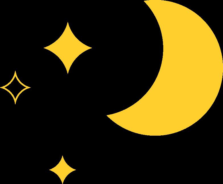 Vektorgrafik im  Stil Mond mit sternen als PNG und SVG | Icons8 Grafiken