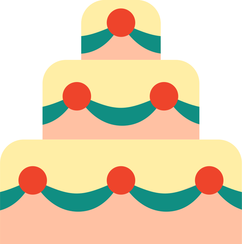 wedding cake Clipart illustration in PNG, SVG