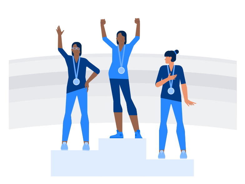 Olympic medalists Clipart illustration in PNG, SVG