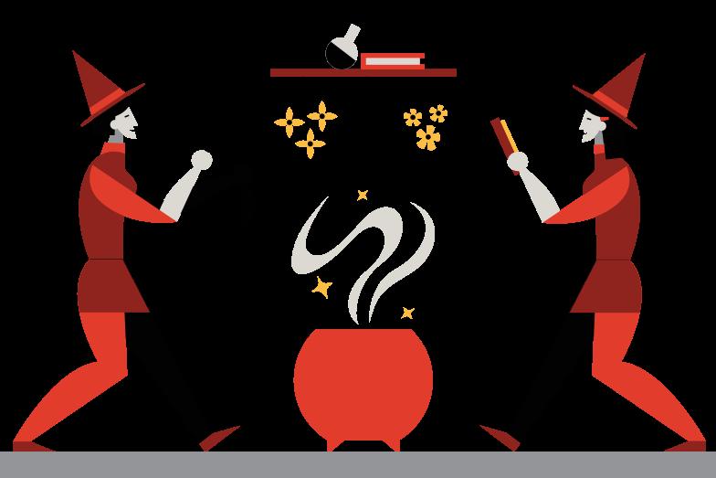 Иллюстрация Партия ведьм в стиле  в PNG и SVG | Icons8 Иллюстрации