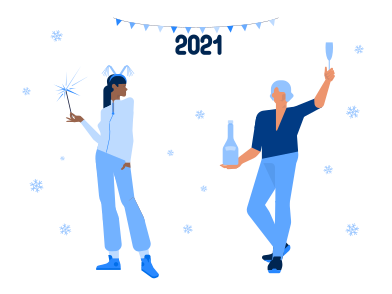 style Happy New Year images in PNG and SVG | Icons8 Illustrations