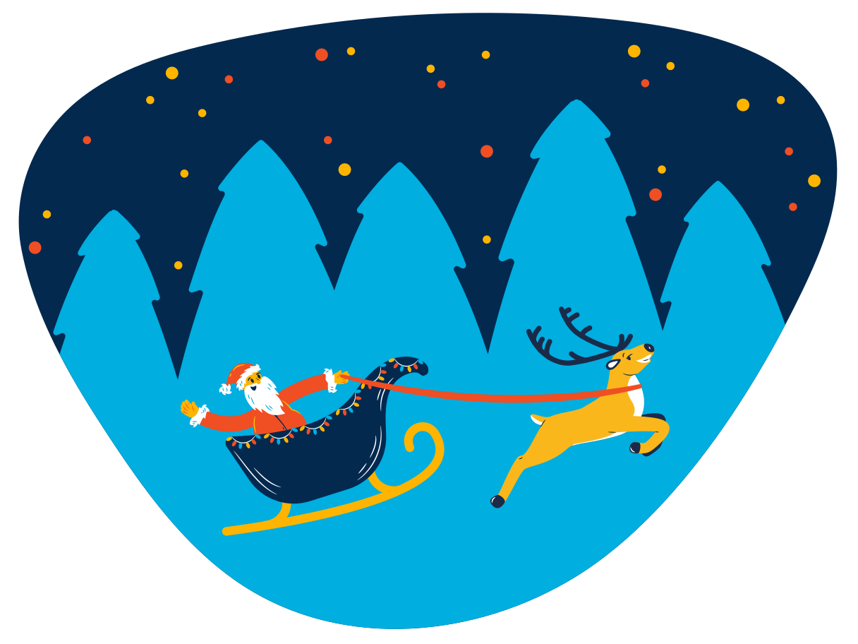 Christmas eve Clipart illustration in PNG, SVG