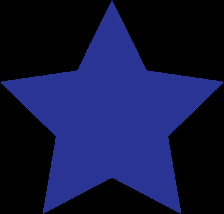 star dark blue Clipart illustration in PNG, SVG