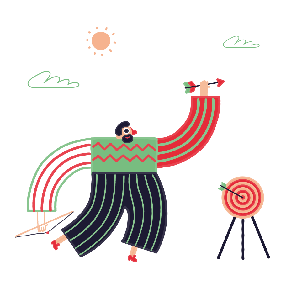 Bow shooting Clipart illustration in PNG, SVG