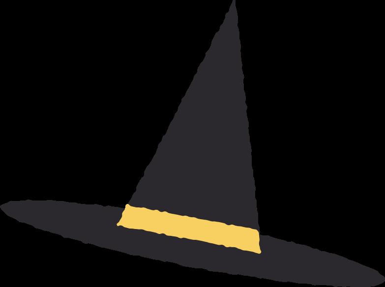 Ilustración de clipart de witch hat en PNG, SVG