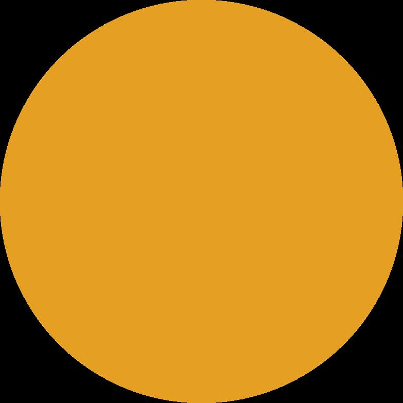 Kreis orange Clipart-Grafik als PNG, SVG