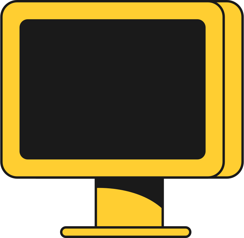 pc display front Clipart illustration in PNG, SVG