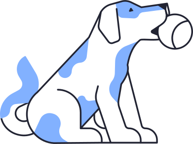 style dog with ball images in PNG and SVG | Icons8 Illustrations