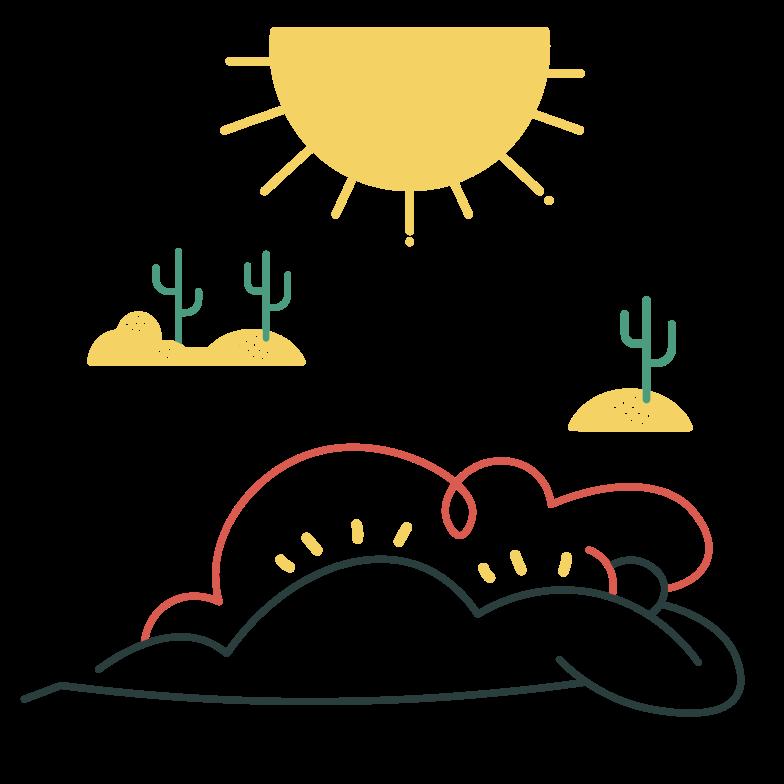 Sunbathing Clipart illustration in PNG, SVG