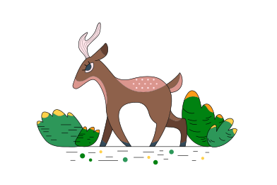 style Forest deer images in PNG and SVG | Icons8 Illustrations