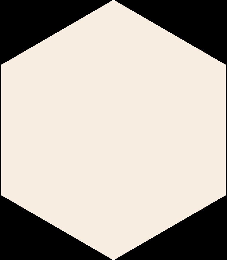 hexagon-beige Clipart illustration in PNG, SVG