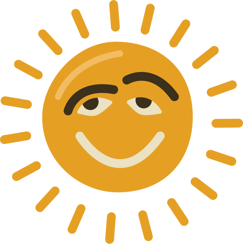 sun chill Clipart illustration in PNG, SVG