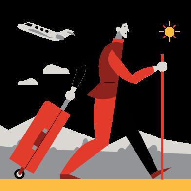 Иллюстрация Дорожное путешествие в стиле  в PNG и SVG | Icons8 Иллюстрации