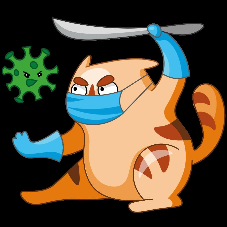 Coronovirus Clipart illustration in PNG, SVG