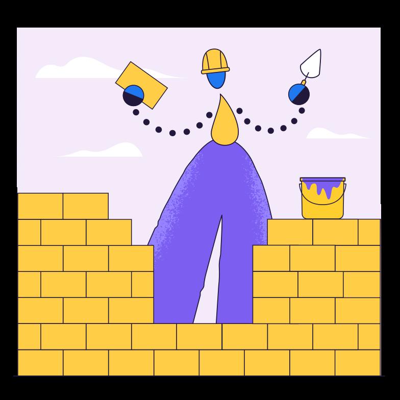 Seite im aufbau Clipart-Grafik als PNG, SVG