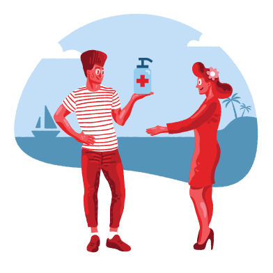 style Romance on the beach during pandemic images in PNG and SVG | Icons8 Illustrations