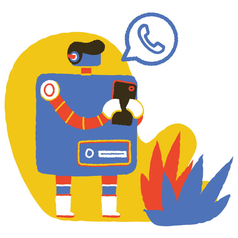 style Robot on WhatsApp Vector images in PNG and SVG | Icons8 Illustrations