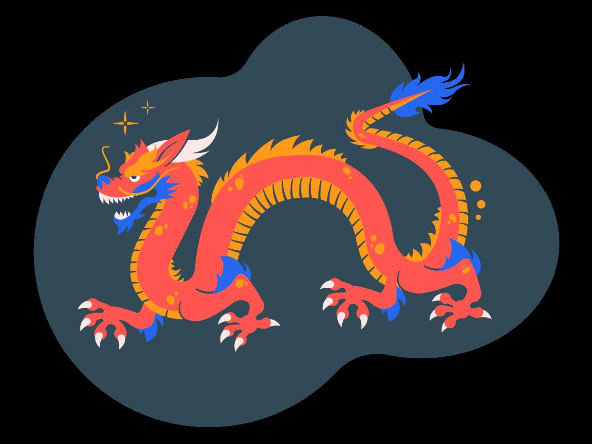 chinesischer drache Clipart-Grafik als PNG, SVG